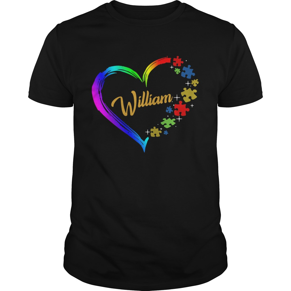 Autism Puzzle Heart Personalized shirt Classic Men's