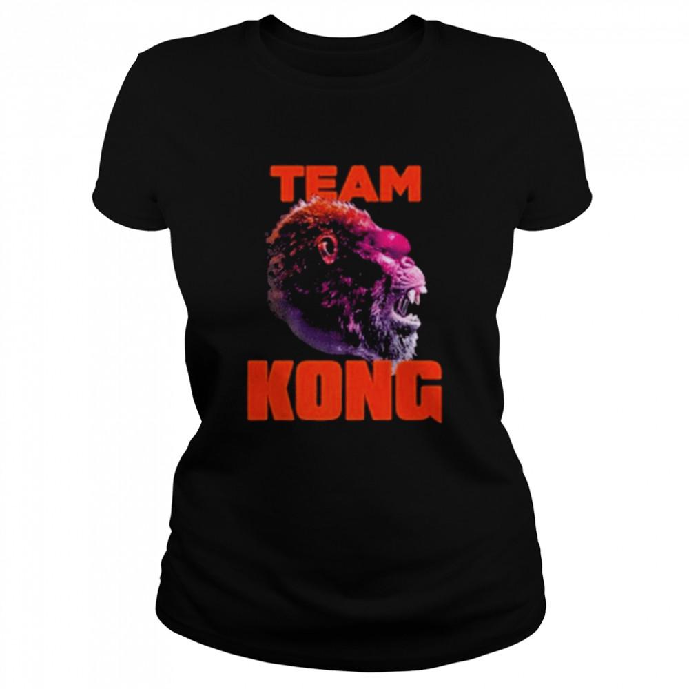 godzilla vs kong team kong neon 2021 shirt Classic Women's T-shirt