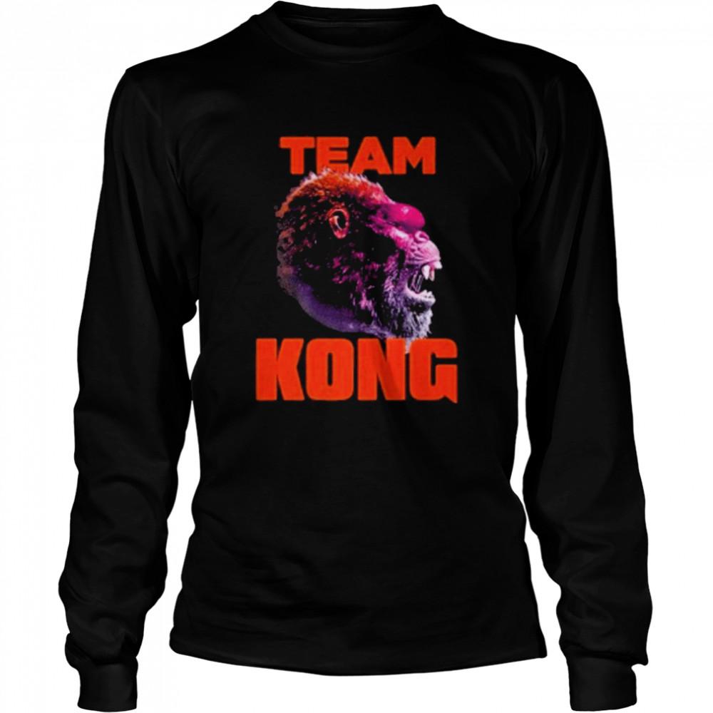 godzilla vs kong team kong neon 2021 shirt Long Sleeved T-shirt