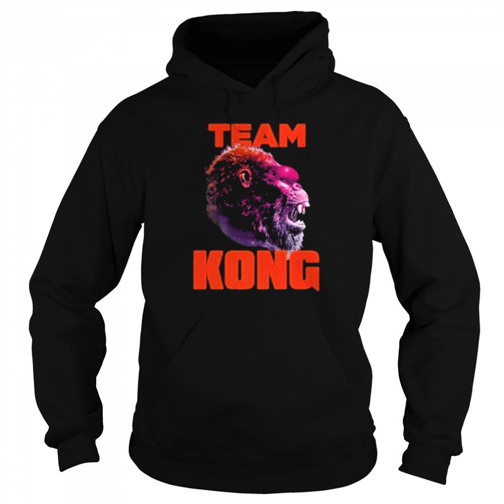 godzilla vs kong team kong neon 2021 shirt Unisex Hoodie