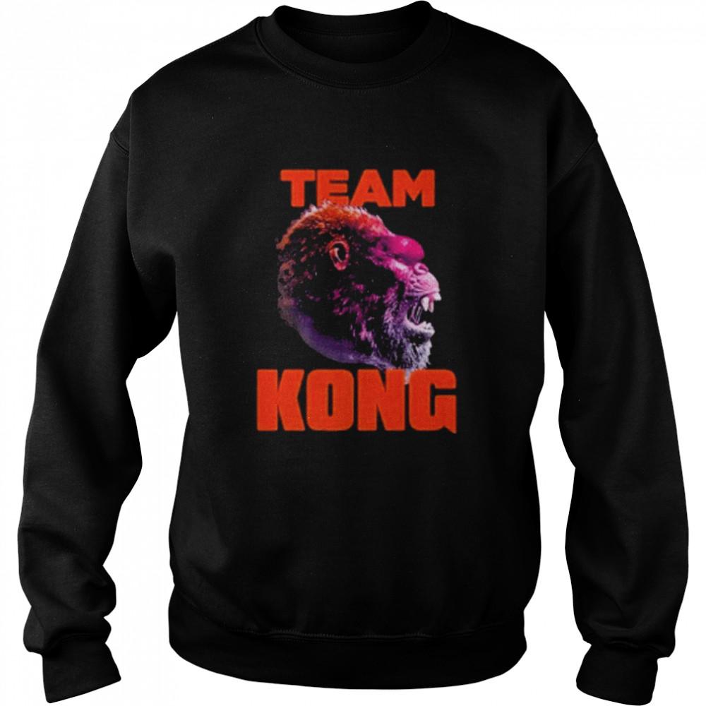 godzilla vs kong team kong neon 2021 shirt Unisex Sweatshirt