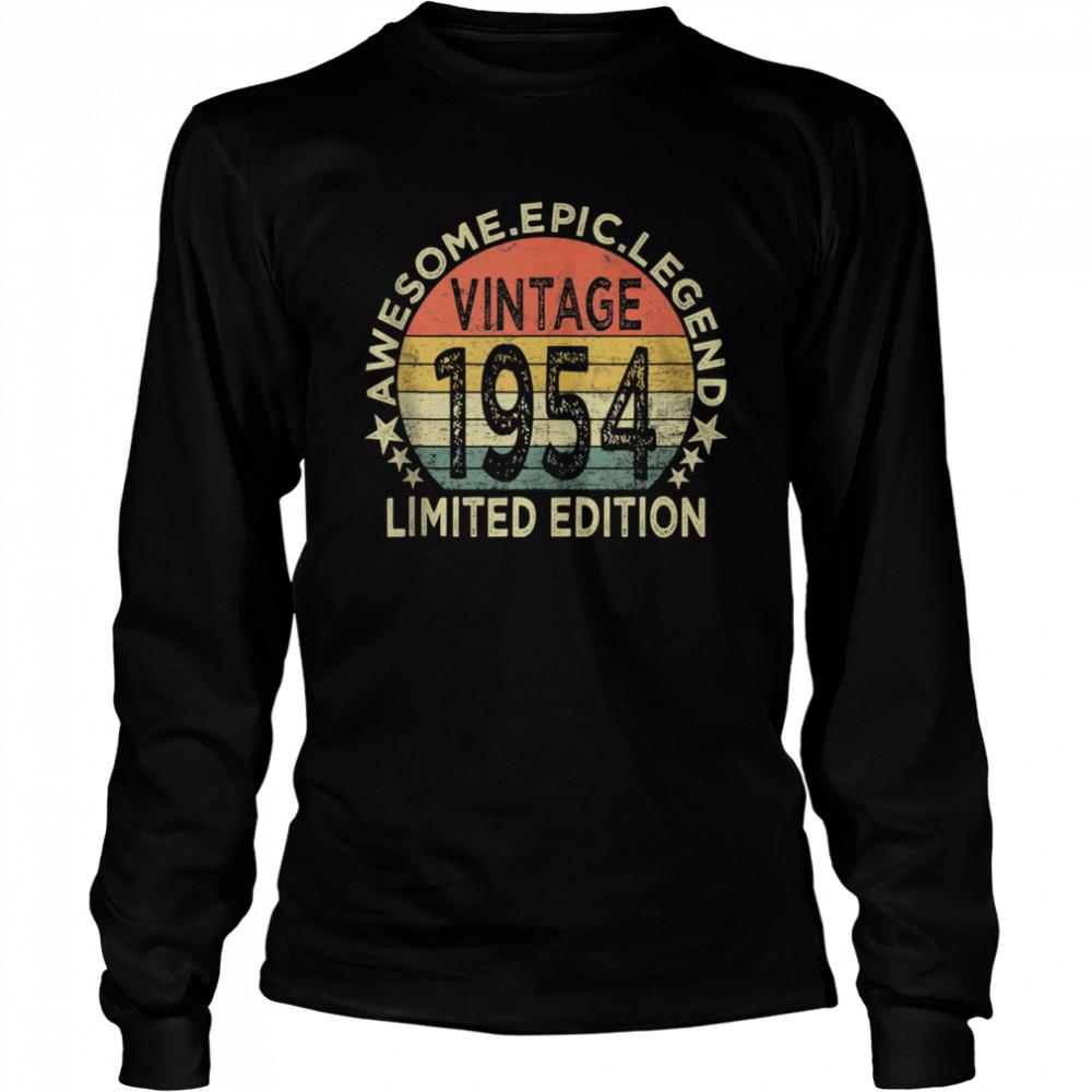 Vintage 1954 67 Year Old 67th Birthday shirt Long Sleeved T-shirt