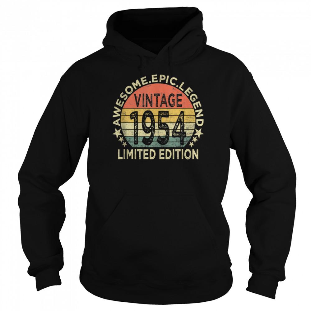 Vintage 1954 67 Year Old 67th Birthday shirt Unisex Hoodie