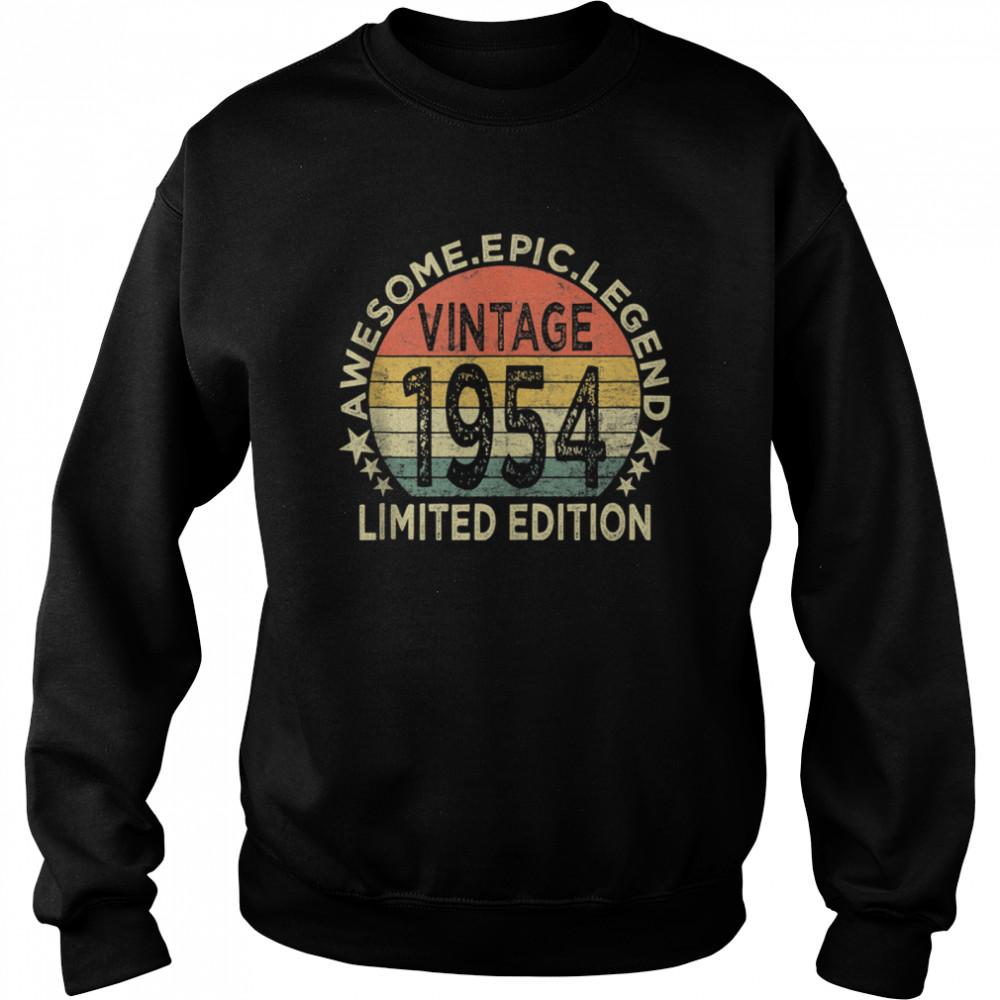 Vintage 1954 67 Year Old 67th Birthday shirt Unisex Sweatshirt