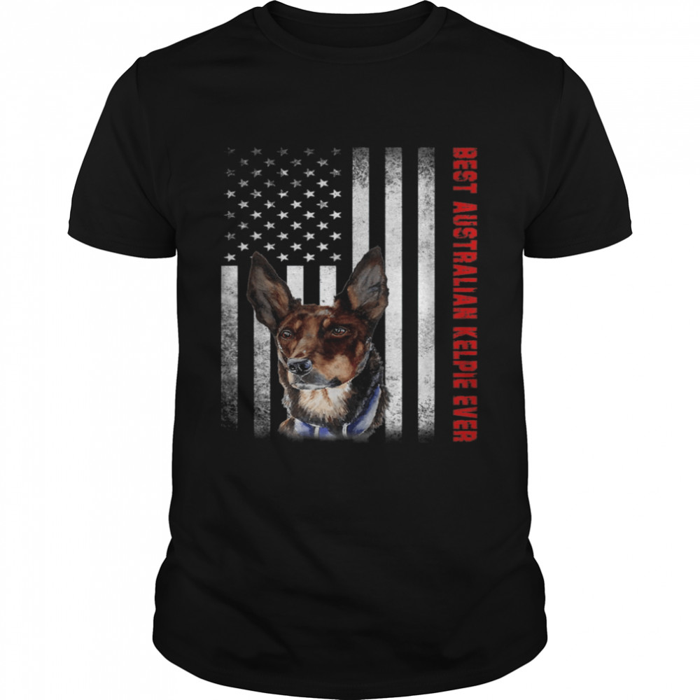 Vintage Best Australian Kelpie Ever American Flag shirt Classic Men's T-shirt