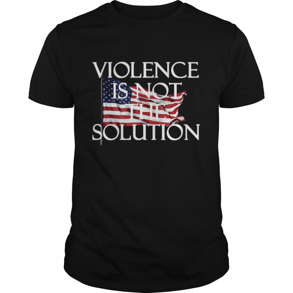 Violence is not the Solution shirt Classic Men's T-shirt