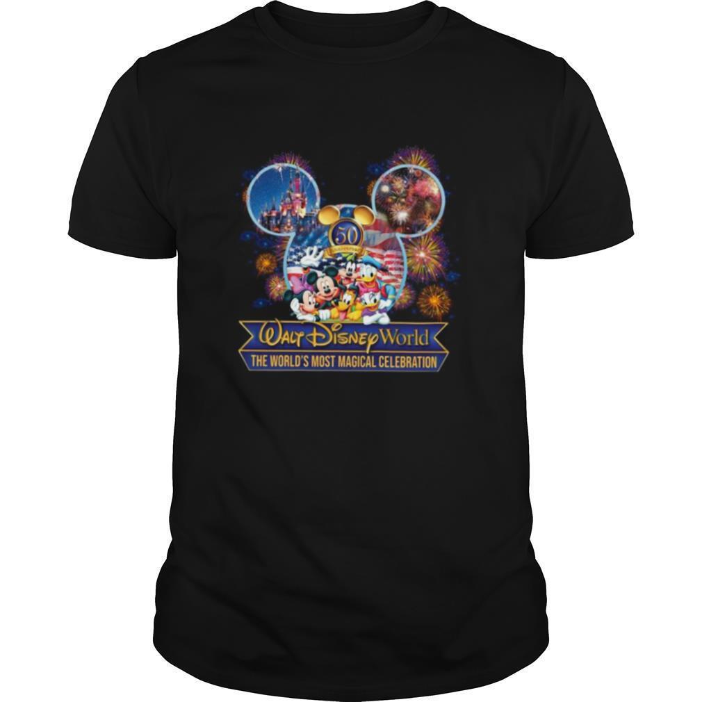 50 Anniversary Walt DIsney World The World's Most Magical Celebration shirt Classic Men's