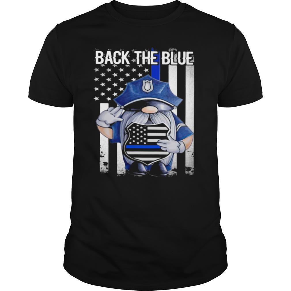 Back The Blue Drawf American Flag shirt Classic Men's