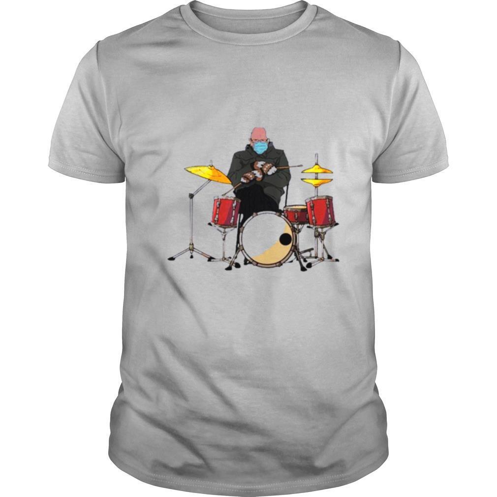 Bernie Sanders Drum Mittens Sitting Inauguration Meme 2021 shirt Classic Men's
