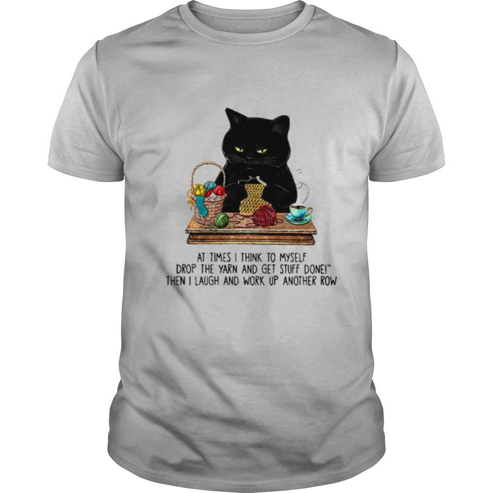 Black Cat at times think to myself shirt Classic Men's