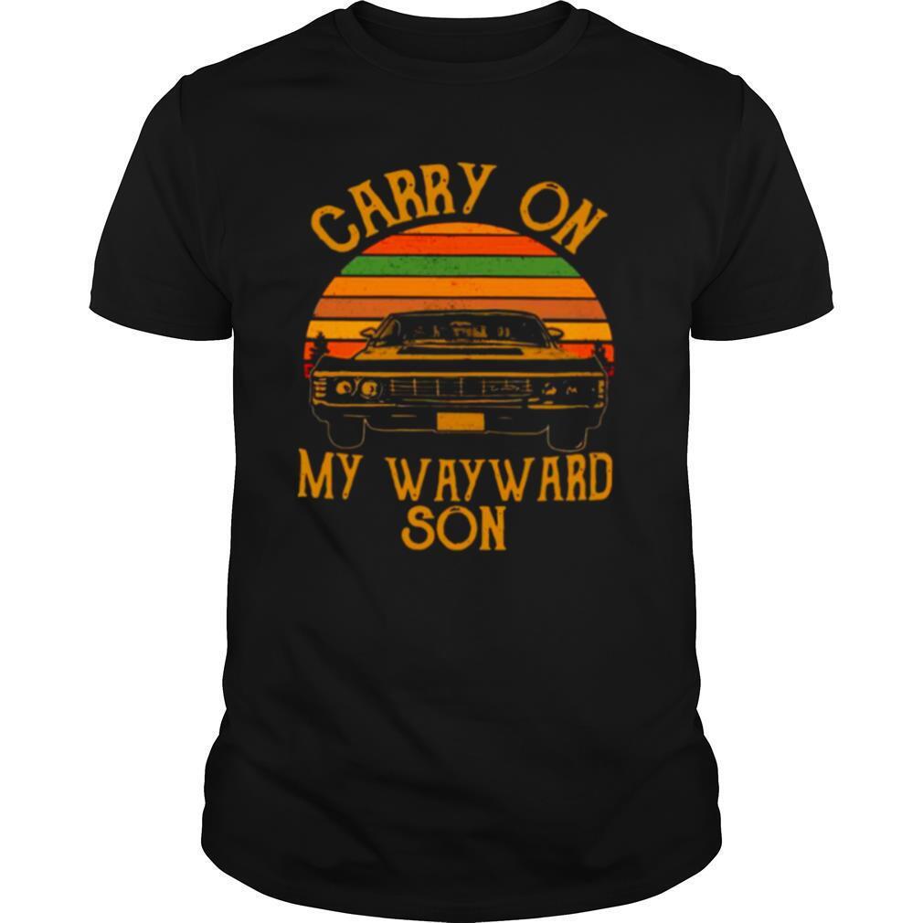 Carry On My Wayward Son 2021 Vintage shirt Classic Men's