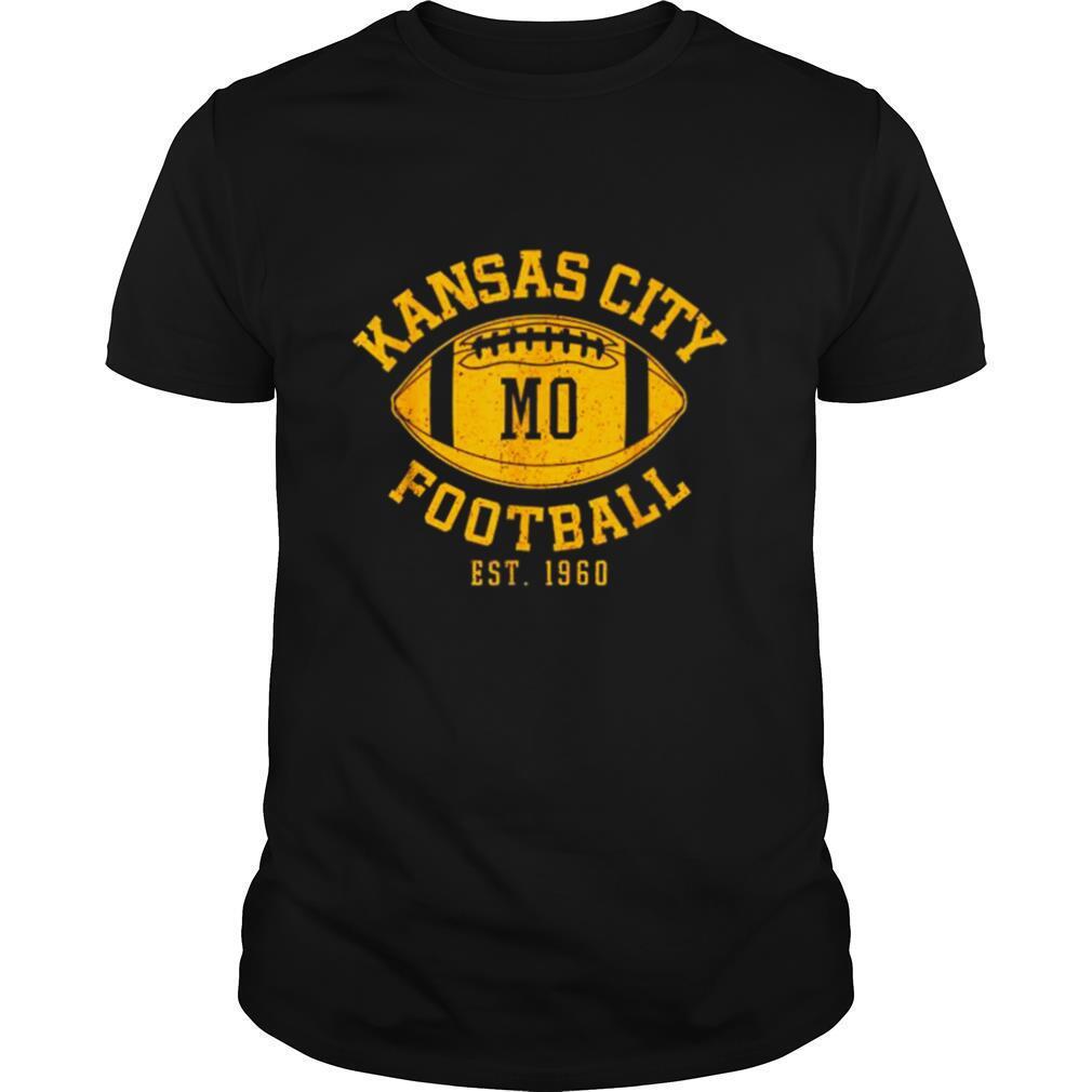 Kansas City Football Vintage KC Missouri Chief Retro shirt Classic Men's