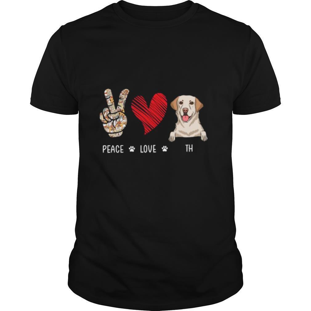 Peace Love And Beagle Dog shirt Classic Men's