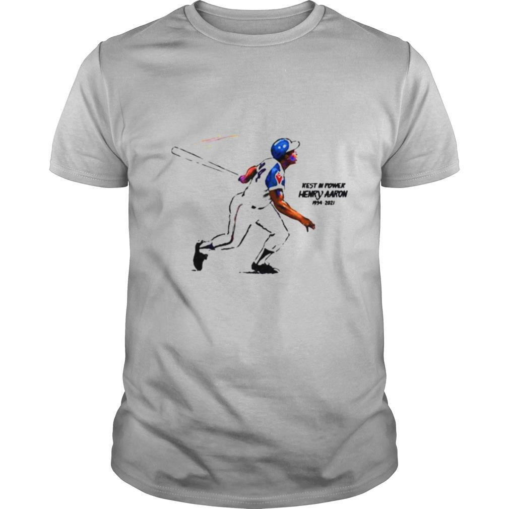 Rest in power Rip Henry Aaron 1934 2021 shirt Classic Men's