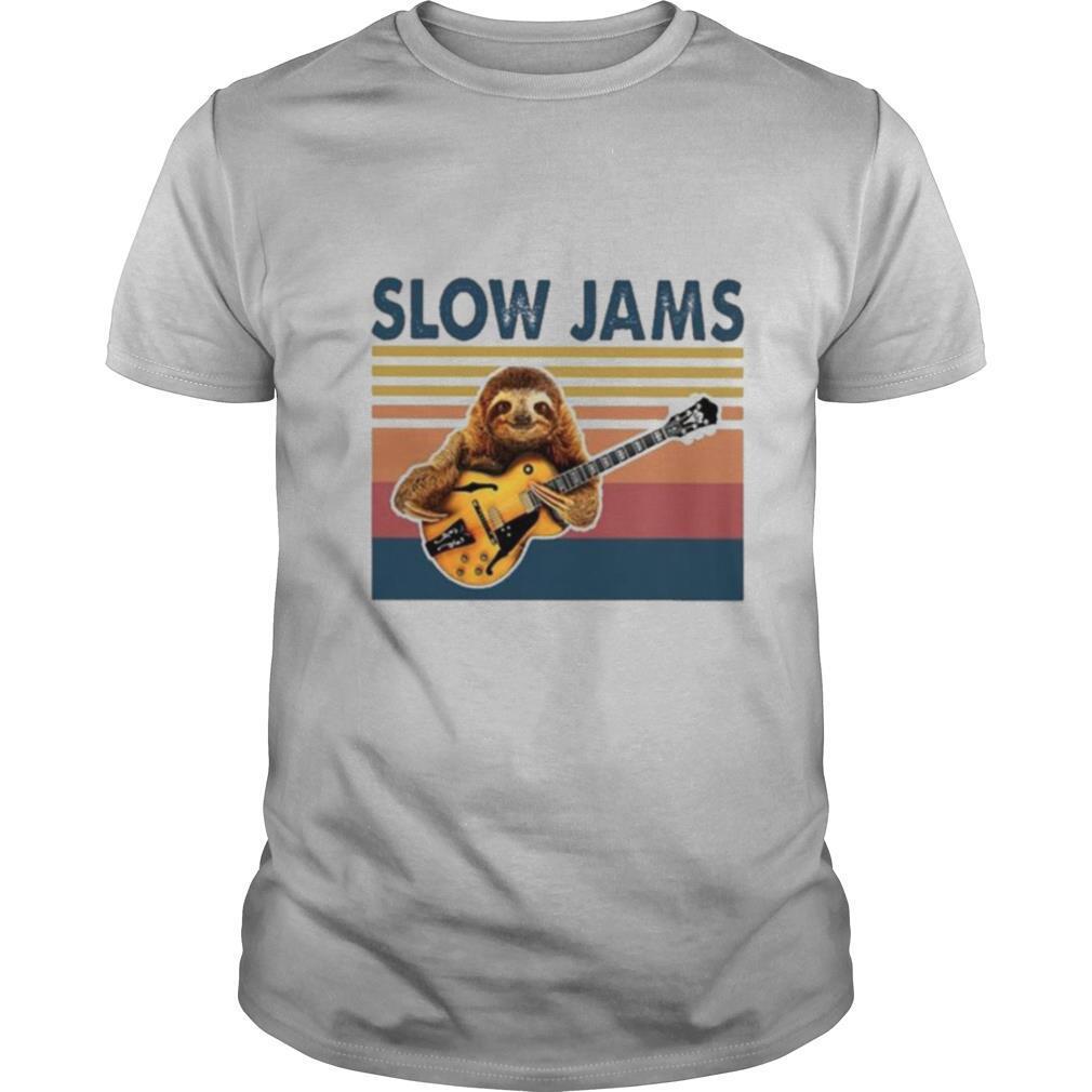 Sloth slow Jams vintage 2021 shirt Classic Men's