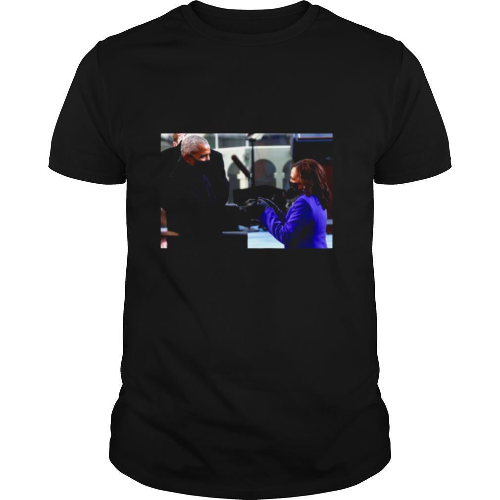 Barack Obama Greeting Vice President Kamala Harris shirt Classic Men's