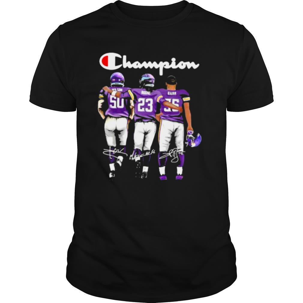 Champion Minnesota Vikings Football Signature Barr shirt Classic Men's