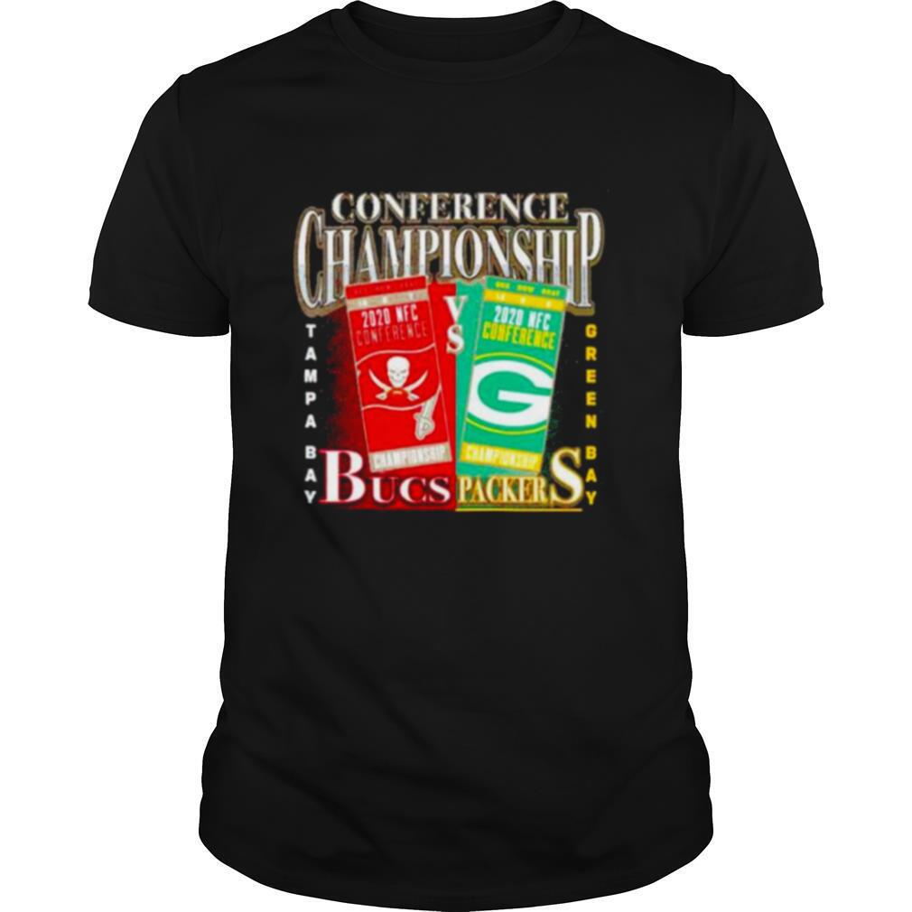 Green Bay Packers vs Tampa Bay Buccaneers 2020 NFC Conference Championship Matchup shirt Classic Men's
