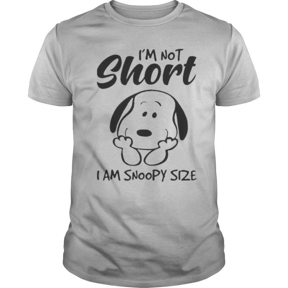 I'm Not Short I Am Snoopy Size shirt Classic Men's