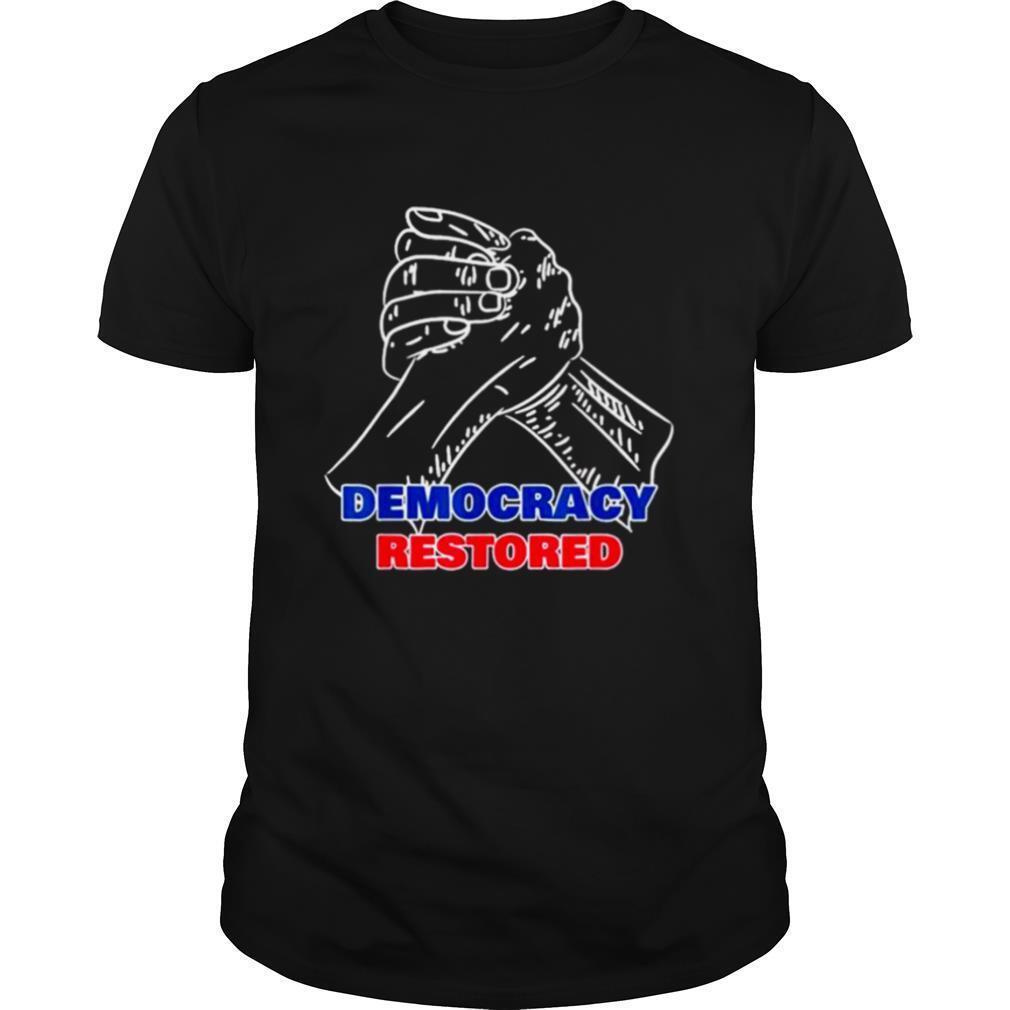 President Biden Harris Inauguration 2021Democracy Restored shirt Classic Men's