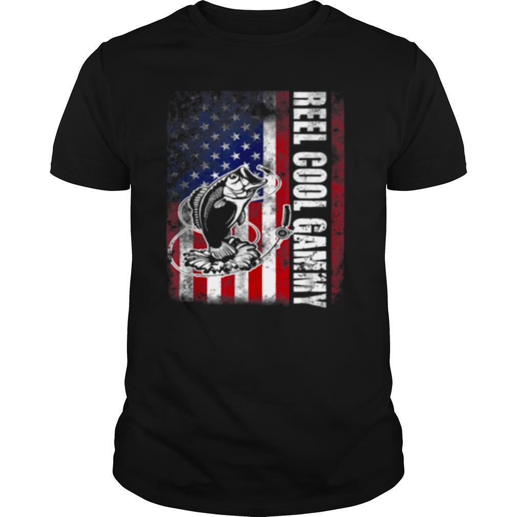 Reel Cool Gammy Vintage American Flag Fishing shirt Classic Men's