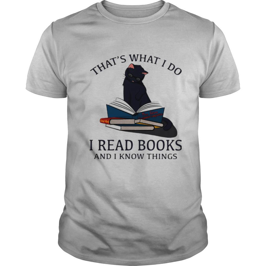 That's What I Do I Read Books And I Knows Things Cat shirt Classic Men's