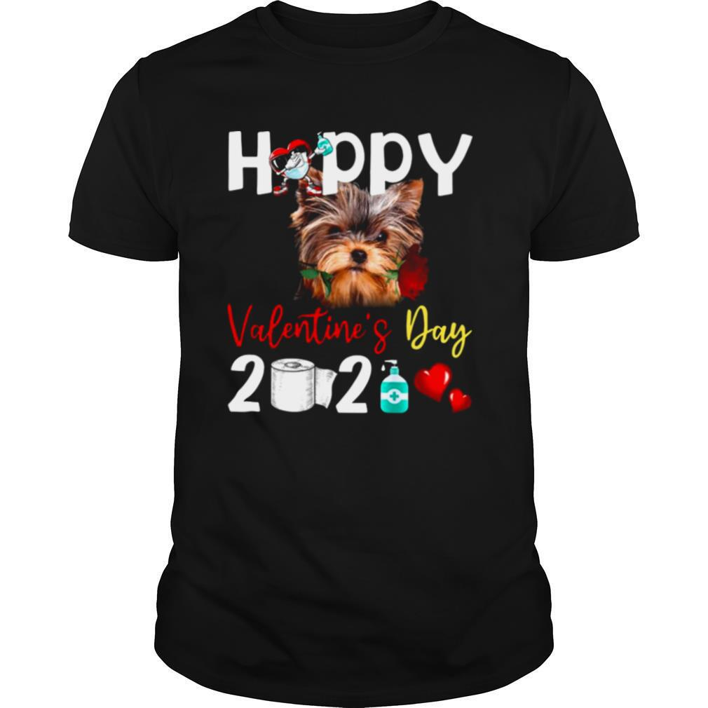 Yorkshire Terrier Happy Valentines Day With Toilet Paper 2021 shirt Classic Men's