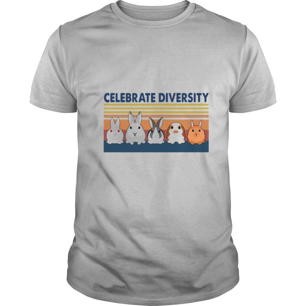 Awesome Bunny Celebrate Diversity Vintage shirt Classic Men's