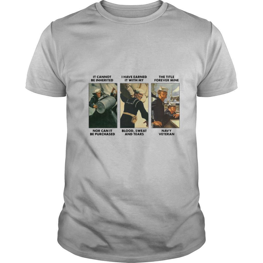 Earned My Navy Veteran shirt Classic Men's