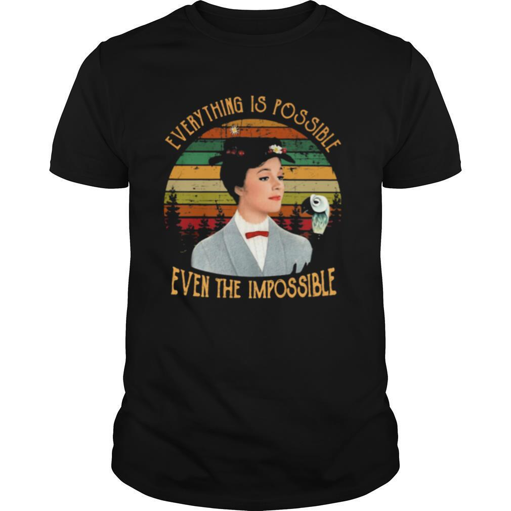 Everything Is Possible Even The Impossible The Girl Vintage shirt Classic Men's