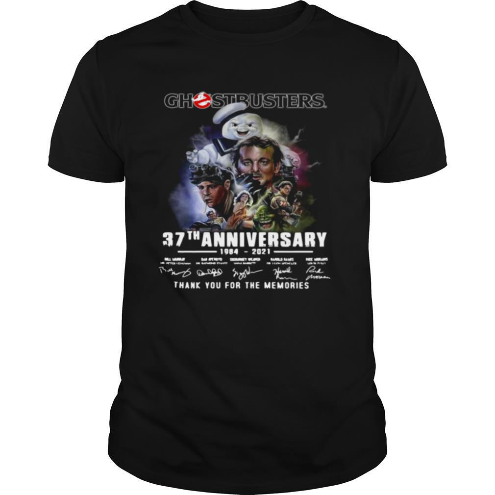 Ghostbusters 37th Anniversary 1984 2021 Signatures Thank You For The Memories shirt Classic Men's