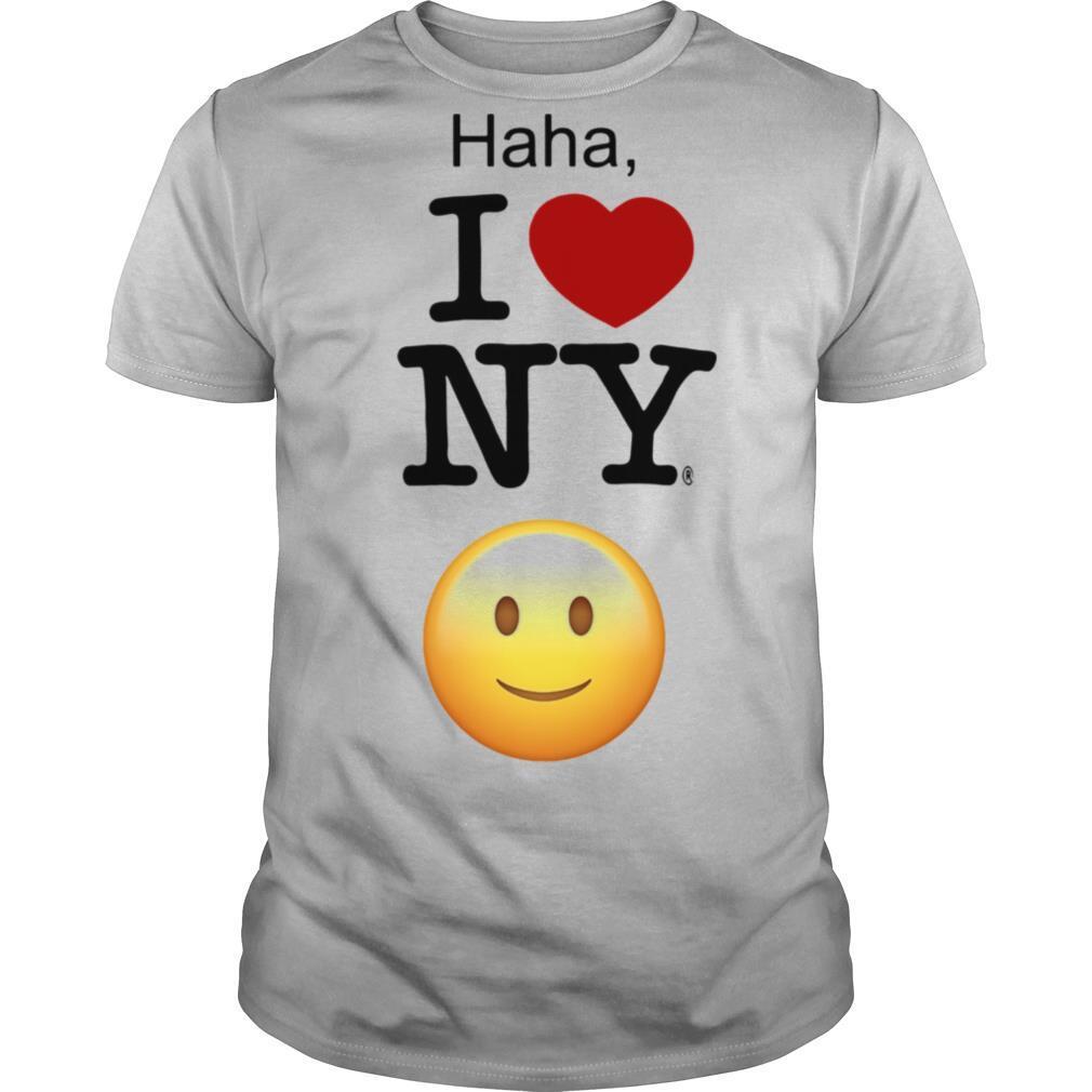 Haha I Love NY shirt Classic Men's