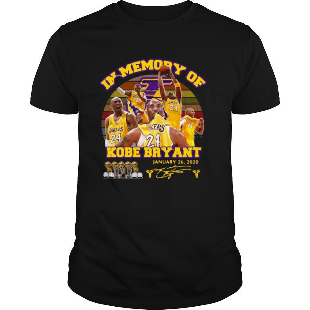In Memory Of Kobe Bryant January 26 2020 Signature Vintage shirt Classic Men's