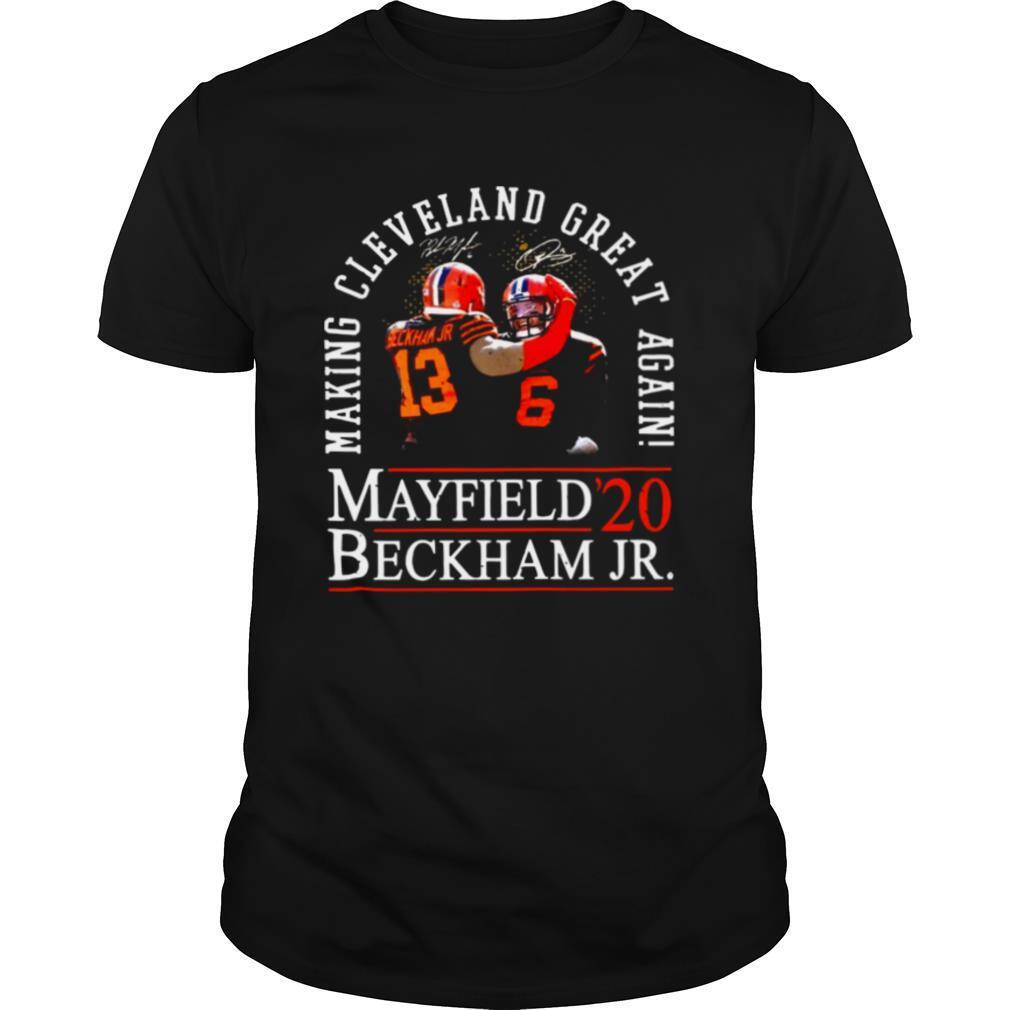 Making Cleveland Browns Great Again Mayfield Beckham Jr 20 shirt Classic Men's