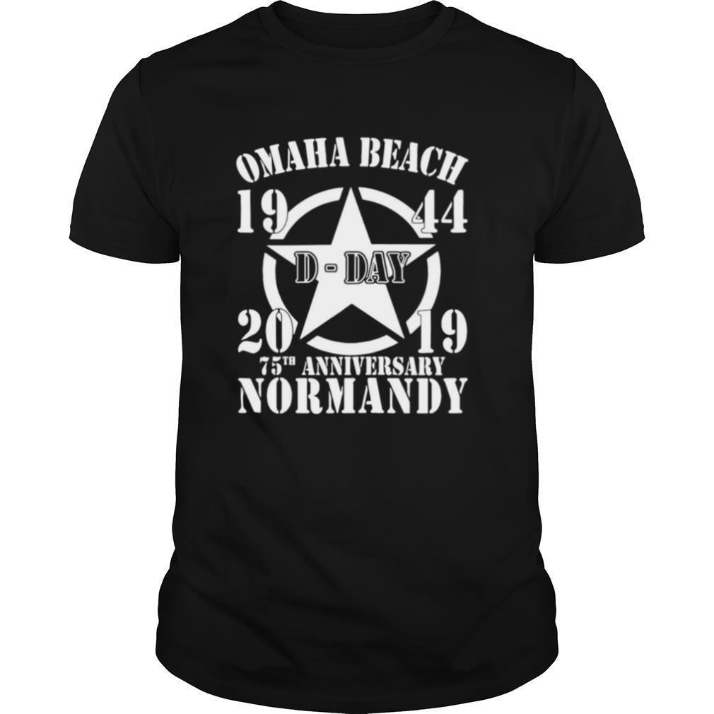 Omaha Beach D Day 1944 2019 Star 75th Anniversary Normandy shirt Classic Men's
