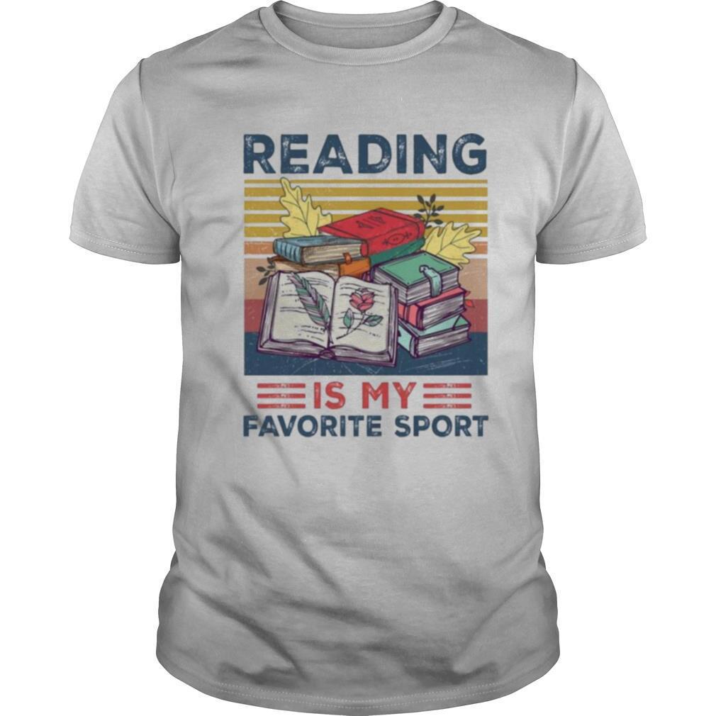 Reading is my favorite sport vintage shirt Classic Men's