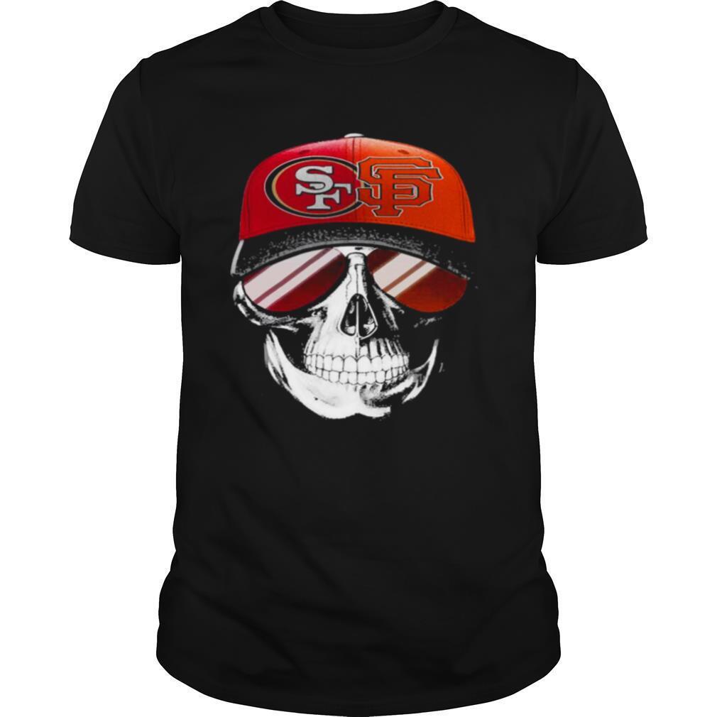 San Francisco 49ers and Los Angeles Lakers Skull sunglass shirt Classic Men's