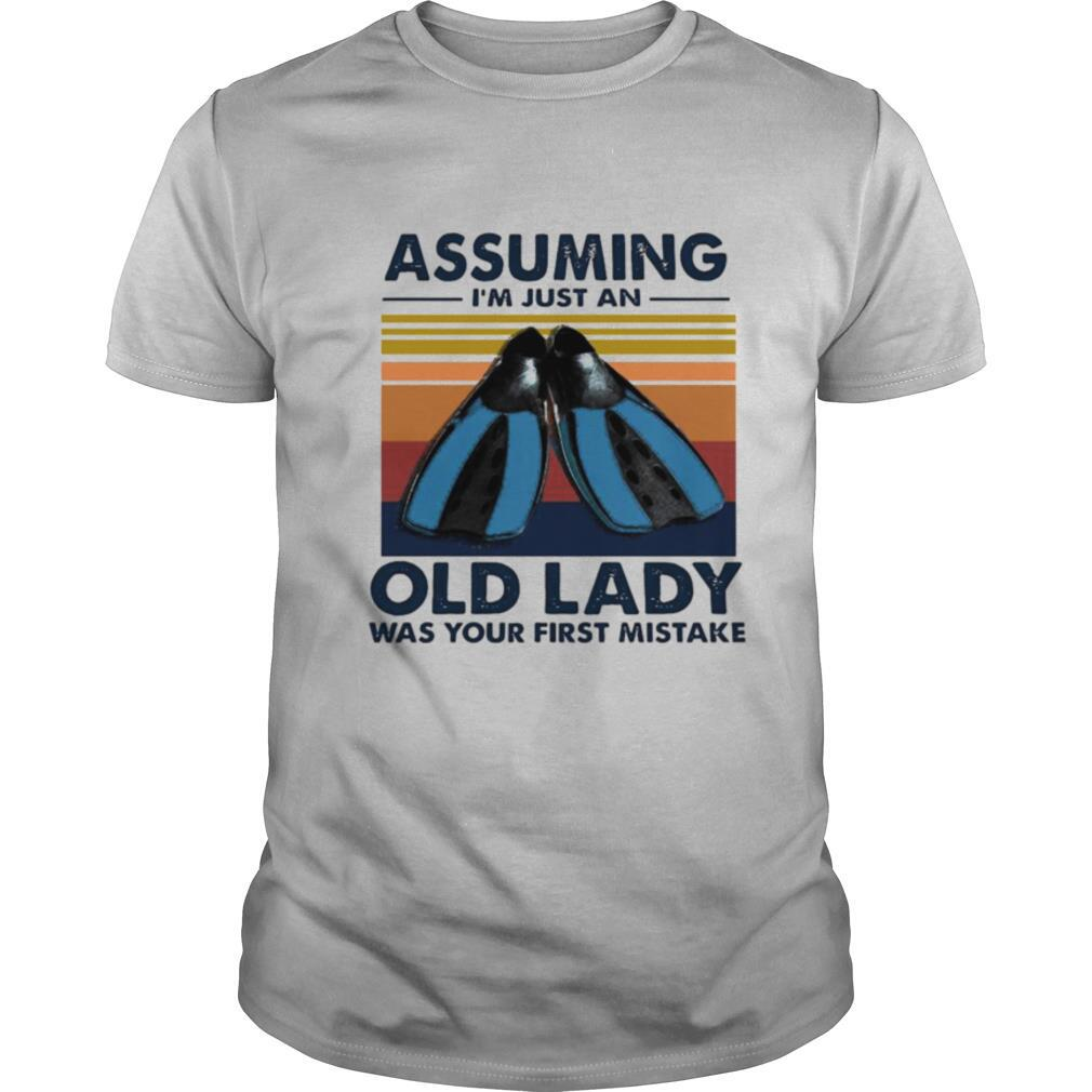 Scuba Diving Assuming I'm Just An Old Lady Was Your First Mistake Vintage shirt Classic Men's