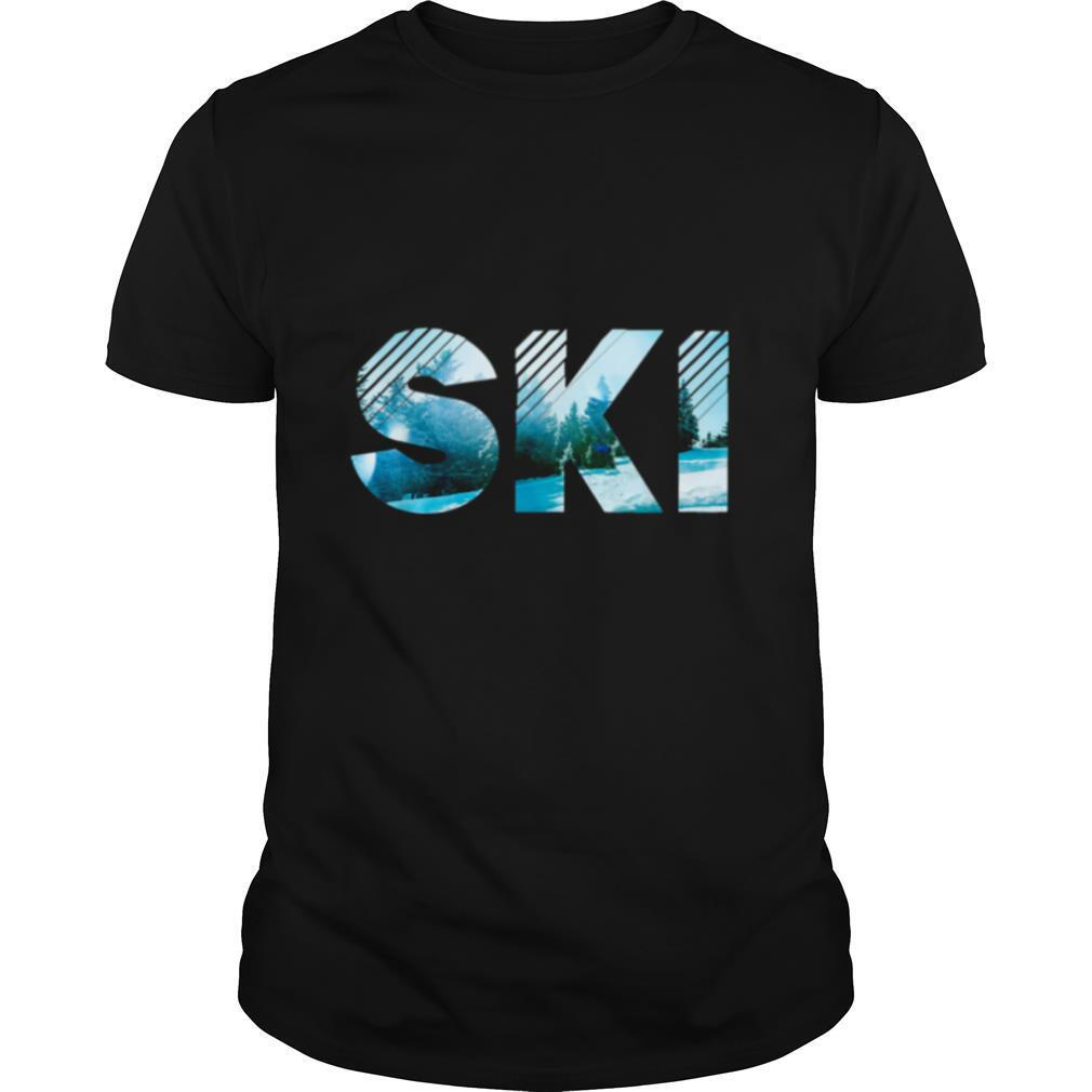 Snow I Love Ski shirt Classic Men's