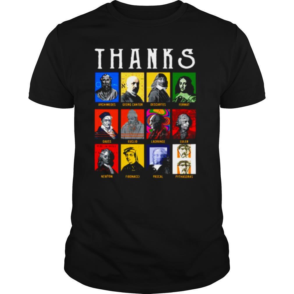 Thank Archimedes Fermat Lagrange Newton Pythagoras shirt Classic Men's
