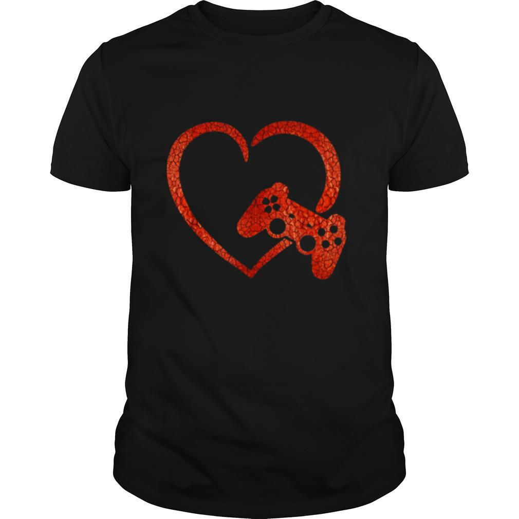 Valentines Day Video Game Controller Heart Gamers Boys shirt Classic Men's