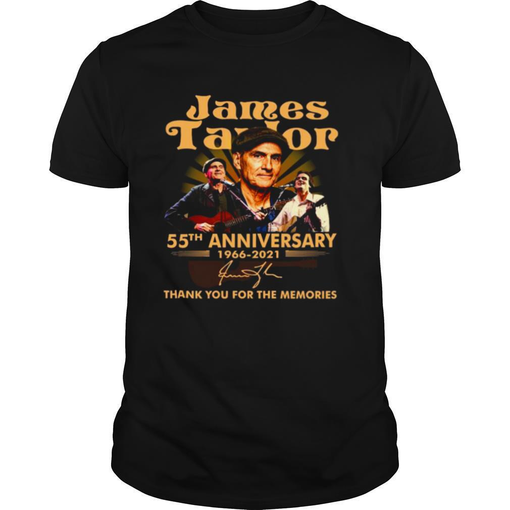 James Taylor 55th Anniversary 1966 2021 Thank You For The Memories Signature shirt Classic Men's
