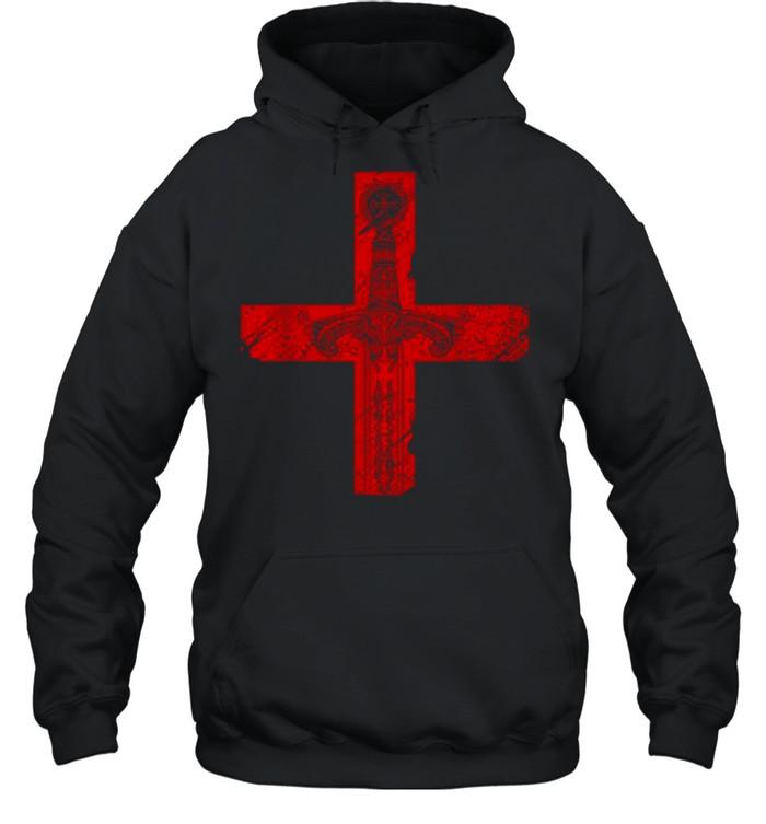 Knight Templar Sword And Cross shirt Unisex Hoodie