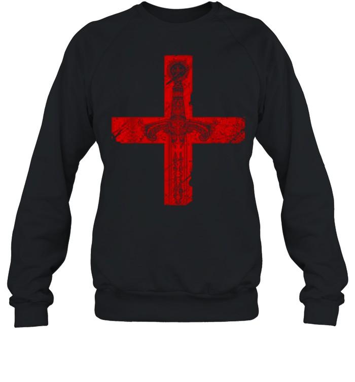 Knight Templar Sword And Cross shirt Unisex Sweatshirt