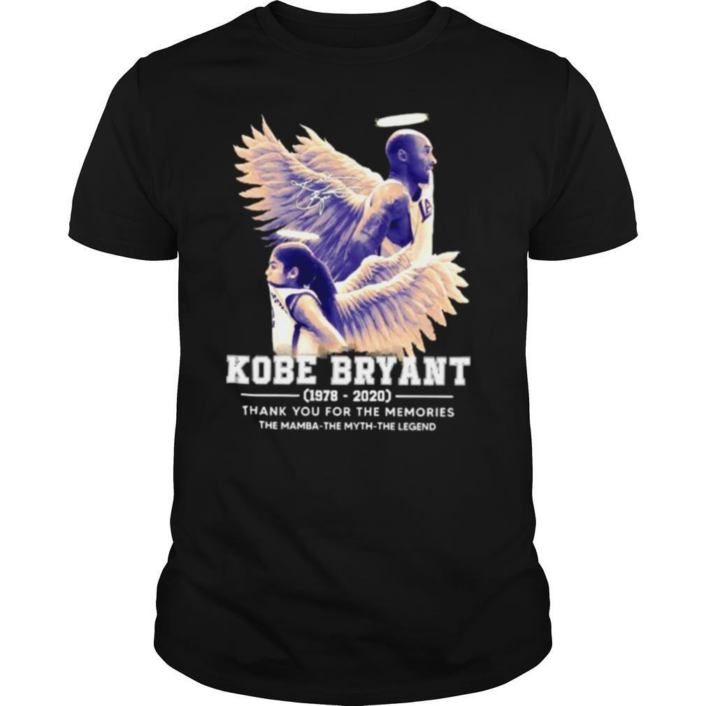 Kobe Bryant The Mamba The Myth The Legend thank you for the memories signature shirt Classic Men's
