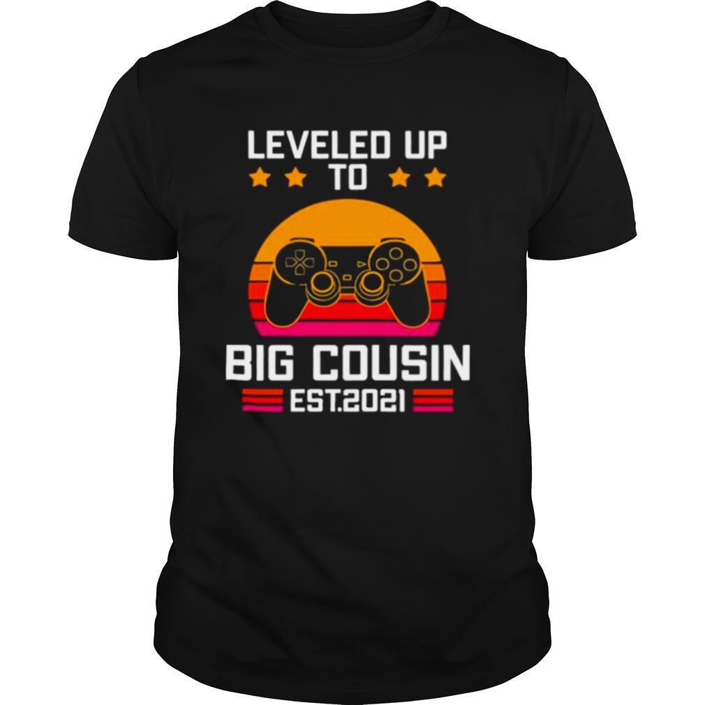leveled up to big cousin esr 2021 vintage shirt Classic Men's