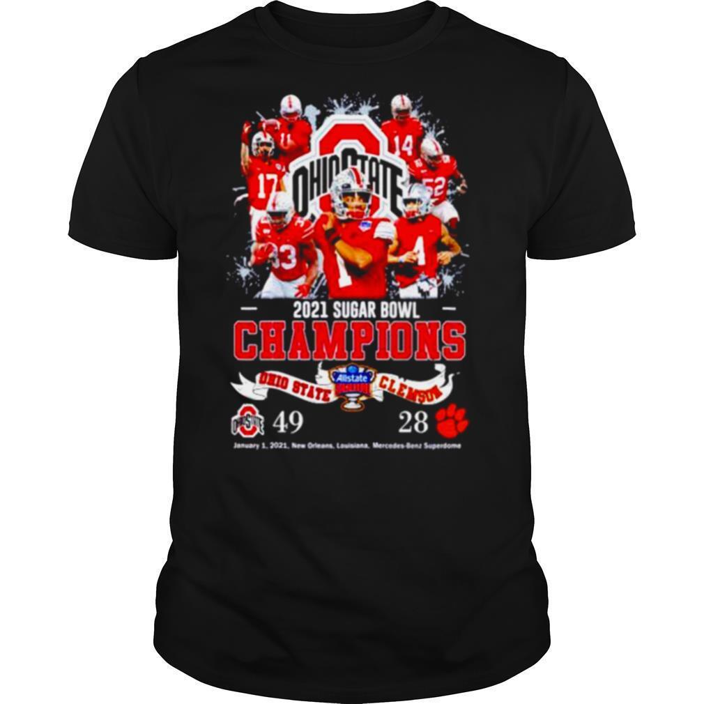 Ohio State 2021 Sugar Bowl Champions Ohio State 49 Clemson 28 shirt Classic Men's