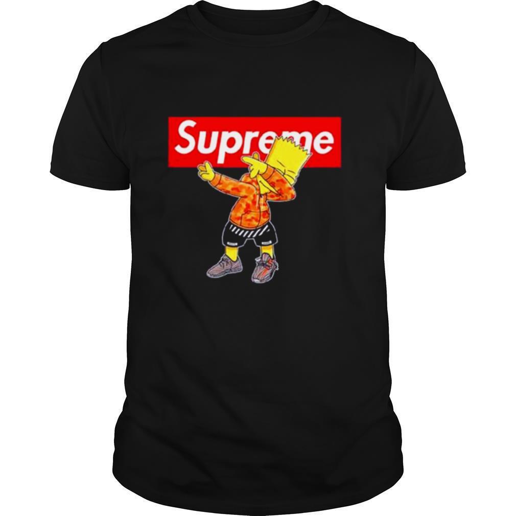Supreme Simpson Dabbing shirt Classic Men's