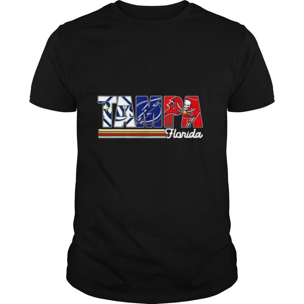 Tampa Tampa Bay Rays Tampa Bay Lightning Tampa Bay Buccaneers Florida Vintage shirt Classic Men's