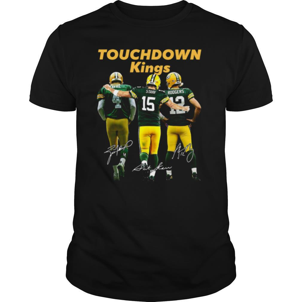 Touchdown Kings Green Bay Packers Favre Starr Rodgers Signature shirt Classic Men's